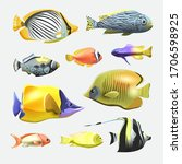 sea beautiful fish collection... | Shutterstock .eps vector #1706598925