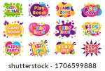 kids entertainment badges. game ... | Shutterstock .eps vector #1706599888