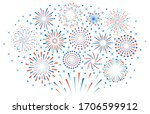 happy 4th july fireworks.... | Shutterstock .eps vector #1706599912