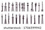 communication tower antenna.... | Shutterstock .eps vector #1706599942