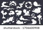 cartoon smoke clouds. comic... | Shutterstock .eps vector #1706600908