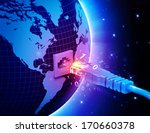 global network connection...   Shutterstock . vector #170660378