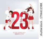 happy april 23 national... | Shutterstock .eps vector #1706611588