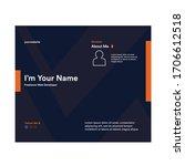 awesome portfolio design cover... | Shutterstock .eps vector #1706612518
