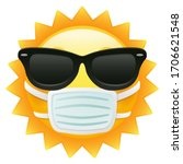 sun emoji sunglasses with... | Shutterstock .eps vector #1706621548