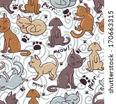 cute seamless pattern with... | Shutterstock .eps vector #170663315