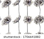 pattern with big peony flowers  ... | Shutterstock .eps vector #1706641882