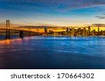 san francisco skyline ...   Shutterstock . vector #170664302