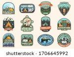 outdoor adventure patch with... | Shutterstock .eps vector #1706645992