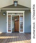 vertical shot of wooden front... | Shutterstock . vector #170666906