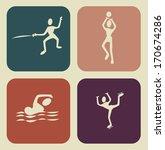 sport design over beige ... | Shutterstock .eps vector #170674286