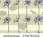 pattern with peony flowers and... | Shutterstock .eps vector #1706781202