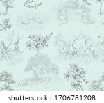 pattern with landscapes with... | Shutterstock .eps vector #1706781208