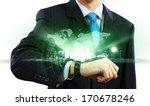 businessman looking at... | Shutterstock . vector #170678246