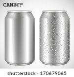 aluminum cans  realistic vector | Shutterstock .eps vector #170679065