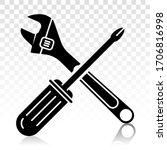 screwdriver and wrench repair... | Shutterstock .eps vector #1706816998