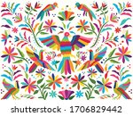 colorful mexican traditional... | Shutterstock .eps vector #1706829442