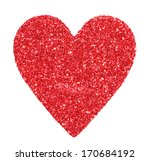 Glitter Red Heart Isolated On...