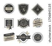 covid lockdown vintage vector...   Shutterstock .eps vector #1706845135