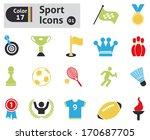 sport icons. vector set for... | Shutterstock .eps vector #170687705