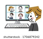 illustration of a worker doing... | Shutterstock .eps vector #1706879242