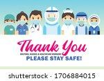 thank you frontline workers ... | Shutterstock . vector #1706884015