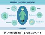 standard personal protective... | Shutterstock .eps vector #1706889745