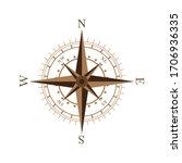 compass icon design vector... | Shutterstock .eps vector #1706936335