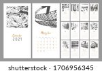 2021  Alendar Design. Set Of 12 ...