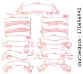 vintage ribbon banners  hand...   Shutterstock .eps vector #170696942