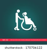 pregnant on wheelchair vector...