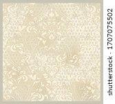 vector illustration. damask... | Shutterstock .eps vector #1707075502