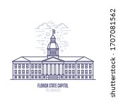 florida state capitol located... | Shutterstock .eps vector #1707081562