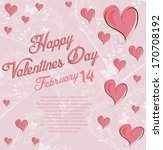 valentines day background | Shutterstock .eps vector #170708192