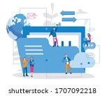 folder is sign of data transfer.... | Shutterstock .eps vector #1707092218