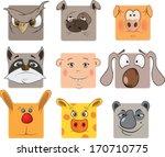 animal icons cartoon  | Shutterstock . vector #170710775