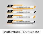 lower third tv news bars set... | Shutterstock .eps vector #1707134455