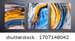 abstract liquid poster  fluid... | Shutterstock .eps vector #1707148042