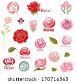 set of rose flower design... | Shutterstock .eps vector #170716565