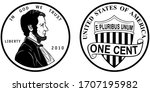 High Quality One Cent Coin Us...
