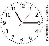 creative clock face vector. | Shutterstock .eps vector #170720756