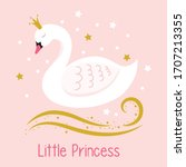 Little Princess. Swan. Girl...