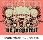 war is coming | Shutterstock .eps vector #170721548