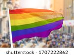 Shot Of The Gay Flag Blowing I...