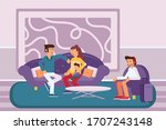 people at hotel lobby...   Shutterstock . vector #1707243148