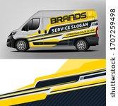 car branding design for a... | Shutterstock .eps vector #1707259498