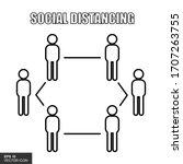 social distance icons are... | Shutterstock .eps vector #1707263755