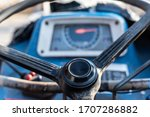Close Up Steering Wheel Of An...