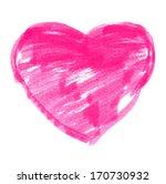 pink felt pen heart  raster... | Shutterstock . vector #170730932