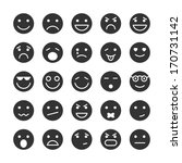 smiley faces icons set of...